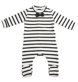 House Of Jamie Pyjama wit en zwarte strepen 56-62