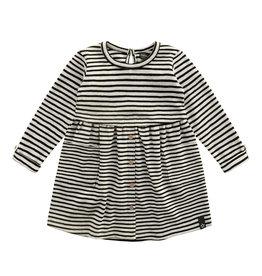 Your wishes Button dress beige stripes 62-68