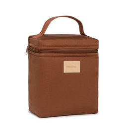Nobodinoz Baby on the go insulated baby bottle and lunch bag • clay brown