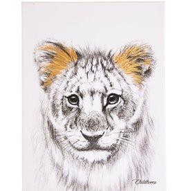 Childhome Schilderij - Leeuw + Goud - 30x40 Cm