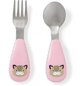 Skip Hop Fork & Spoon Leopard Pink