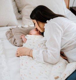 babyly Biologische boho bloemen slaapzak voor baby's
