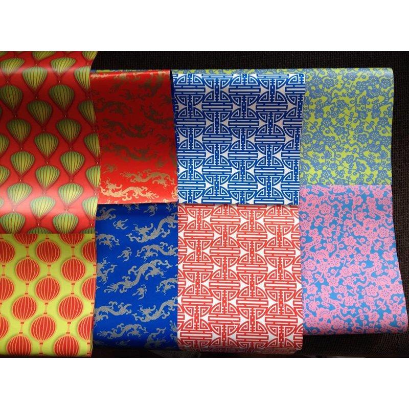 Papier Lampionnen Groen Rood/Rood-Groen