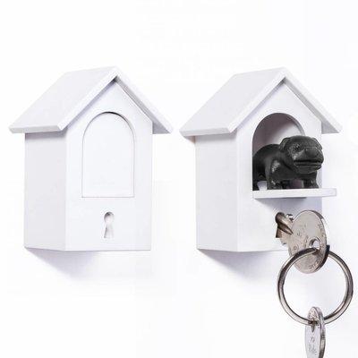 Sleutelhanger Hond Wit-Zwart