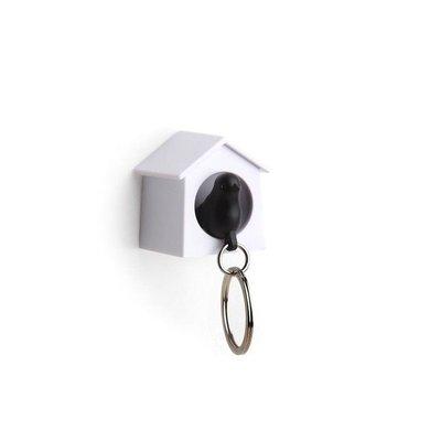 Qualy Sleutelhanger Vogelhuisje Mini Zwart