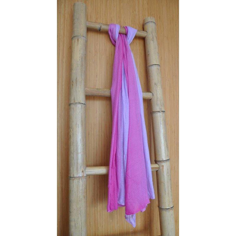 Bamboe Sjaal Licht-Donker Roze