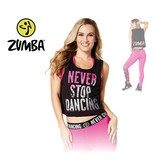 "Zumba Tank ""Never Stop Dancing"" - Black"
