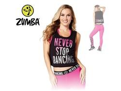 "Zumba Tank ""Never Stop Dancing"" - Black"