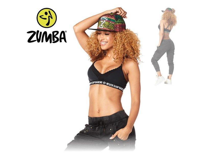 "Zumba Bra ""Never Stop Dancing"" - Black"