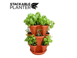 Stackable Planter 3 pcs. Terracotta