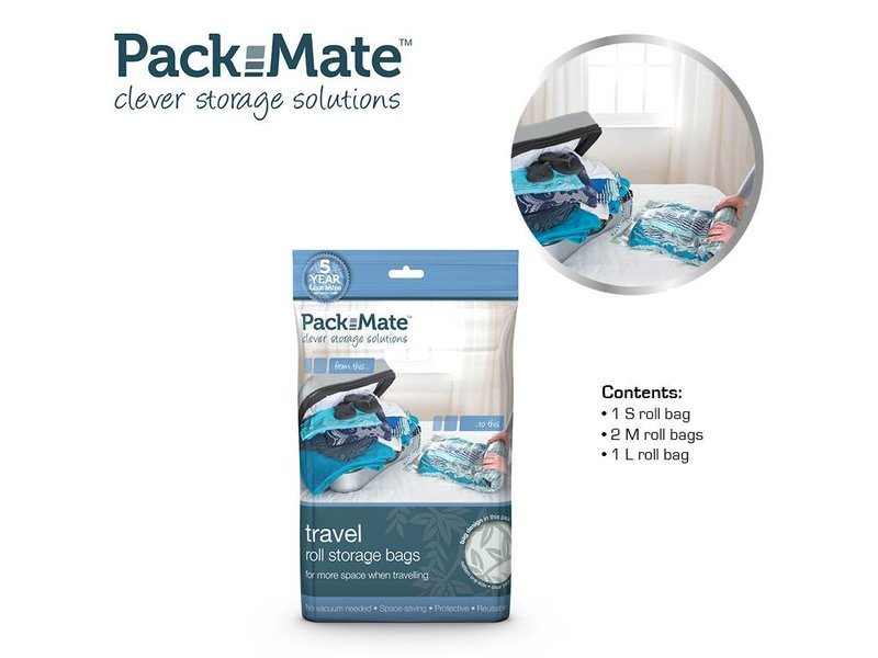 Packmate Vacuum Travel Bag Set 4 pcs.