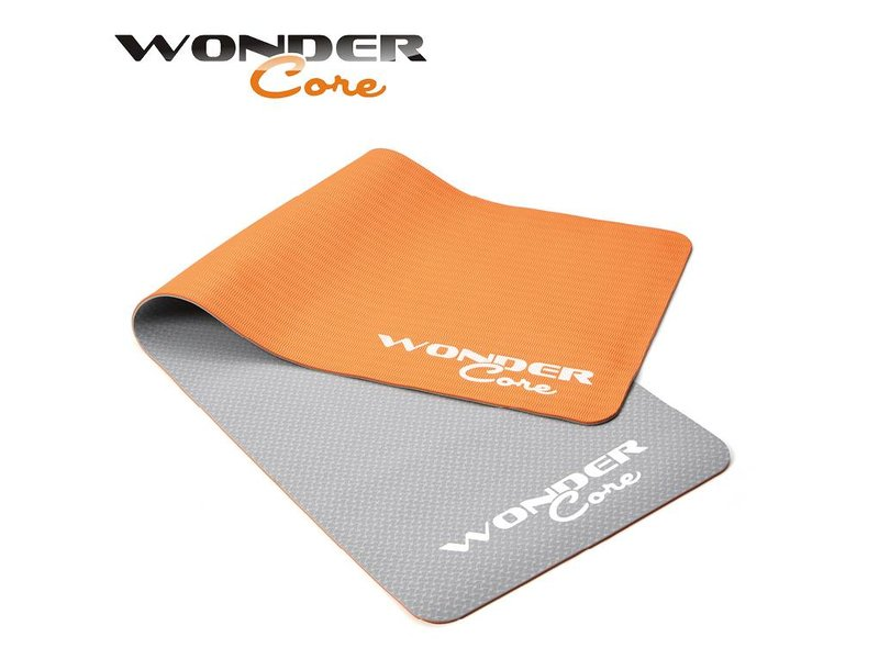 Wonder Core Yoga Mat TPE - 0,6 cm - Gray/Orange