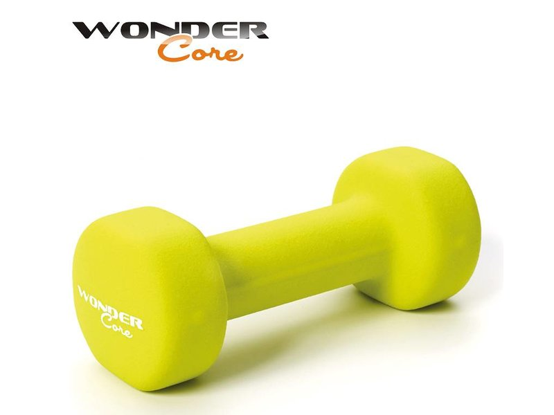 Wonder Core Neoprene Dumbbell Green - 1,5 kg