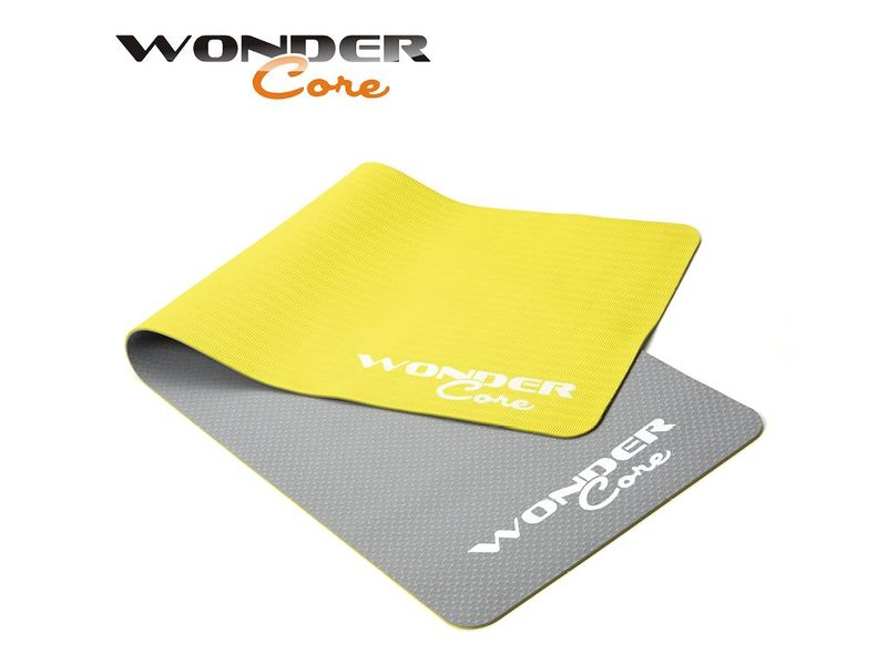 Wonder Core Yoga Mat TPE - 0,6 cm - Gray/Green