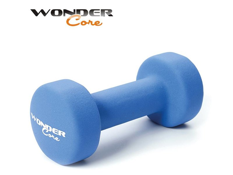 Wonder Core Neoprene Dumbbell Blue - 3,0 kg