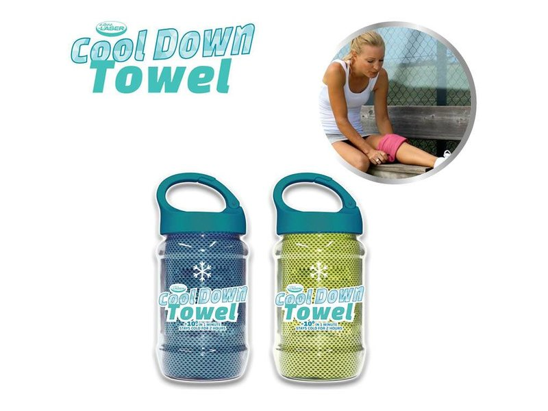 Cool Down Towel Green + Blue