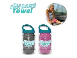 Cool Down Towel Grey + Pink