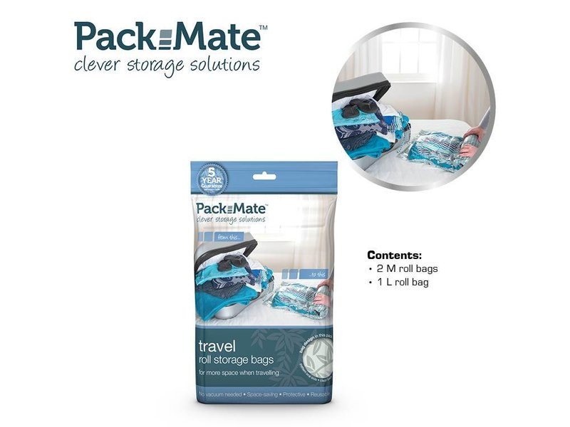 Packmate Vacuum Travel Bag Set 3 pcs.