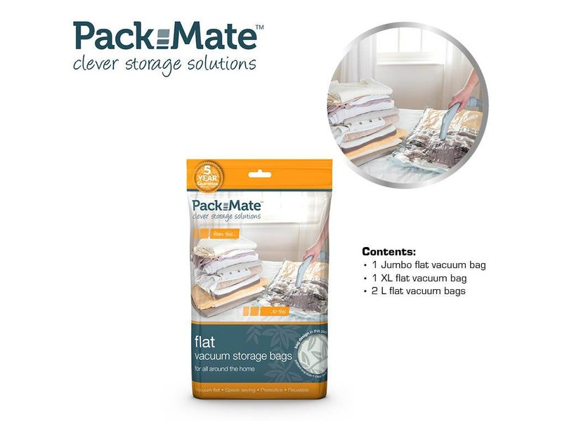 Packmate Vacuum Flat Bag Set 4 pcs