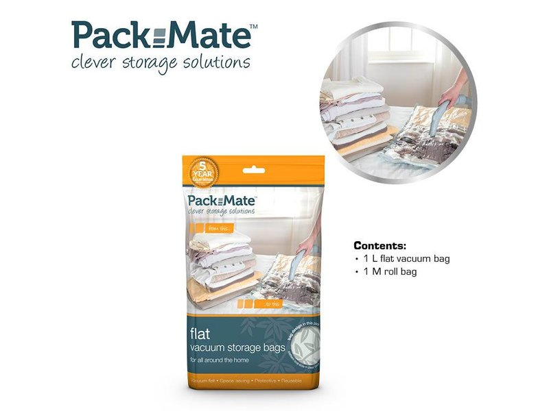 Packmate Vacuum Flat Bag Set 2 pcs M+L