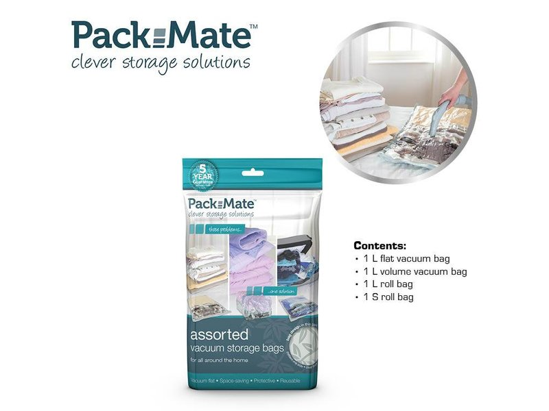 Packmate Assorted Vacuum Bag Set 4 pcs.