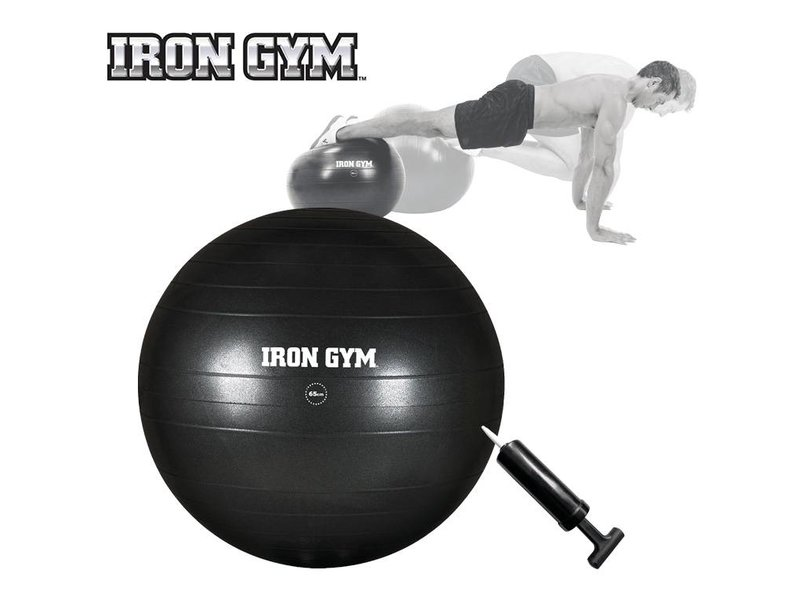Iron Gym Essential Exercise Ball 55 cm and Pump