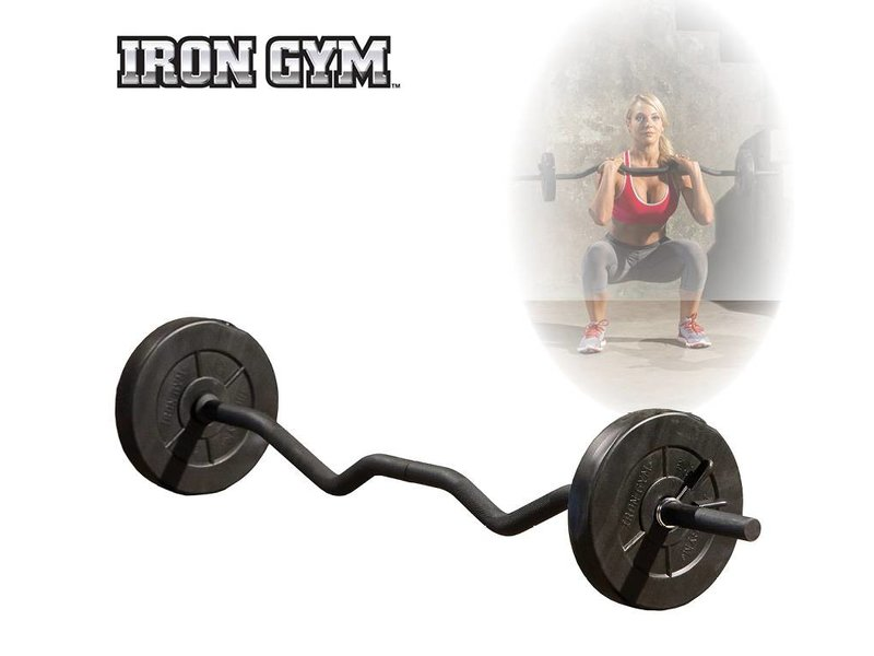 Iron Gym 23kg Adjustable All In One Curl Bar Set