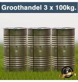 Halve Pallet Carbid 3x 100 kilo in Hersluitbare Ton