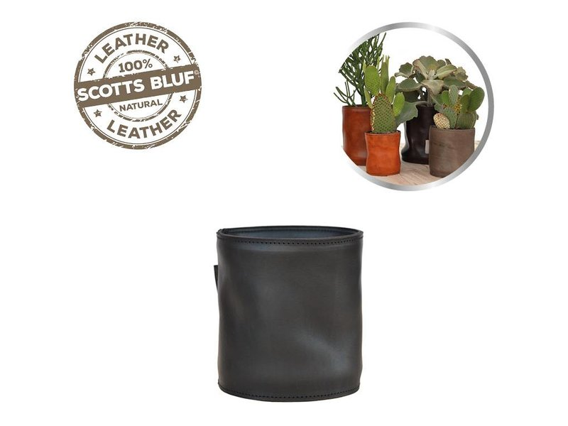 Scotts Bluf Lederen bloempot Black 27 Size L