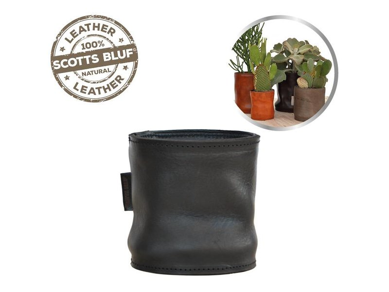 Scotts Bluf Lederen bloempot Black 27 Size XL
