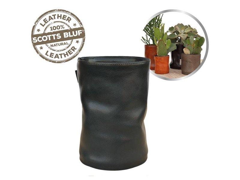 Scotts Bluf Lederen bloempot Black 27 Size XXL