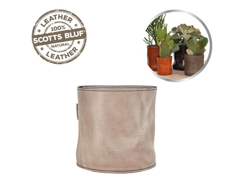 Scotts Bluf Lederen bloempot Taupe 32 Size M