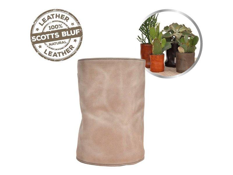 Scotts Bluf Lederen bloempot Taupe 32 Size XXL