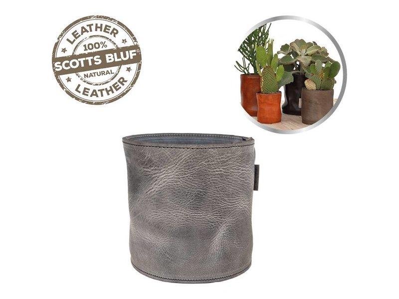 Scotts Bluf Lederen bloempot Grey 31 Size L