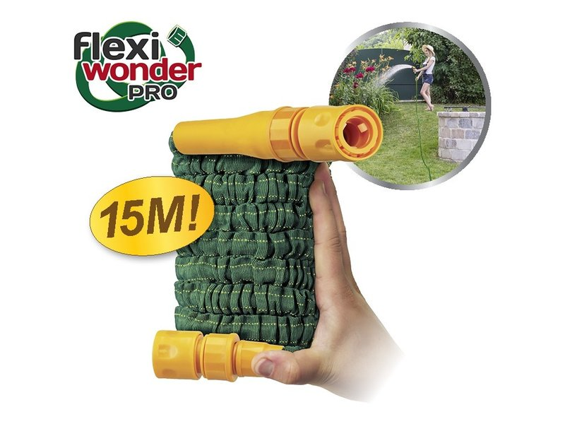 Pocket Hose Flexi Wonder Pro 15m + Nozzle