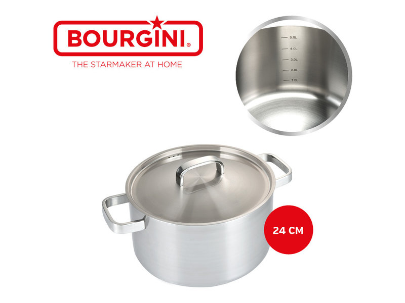 Bourgini Classic Cooking Pan Deluxe 24 cm