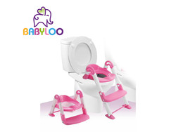 Babyloo Bambino Boost 3-in-1 Training Seat - Pink/White
