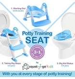 Babyloo Bambino Boost 3-in-1 Training Seat - Blue/White