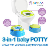 Babyloo Bambino 3-in-1 Potty - Blue/Green