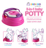 Babyloo Bambino 3-in-1 Potty - Pink/Purple