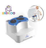 Babyloo Panda Step Stool - Blue/White