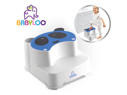 Babyloo Panda Step Stool - Blue/White