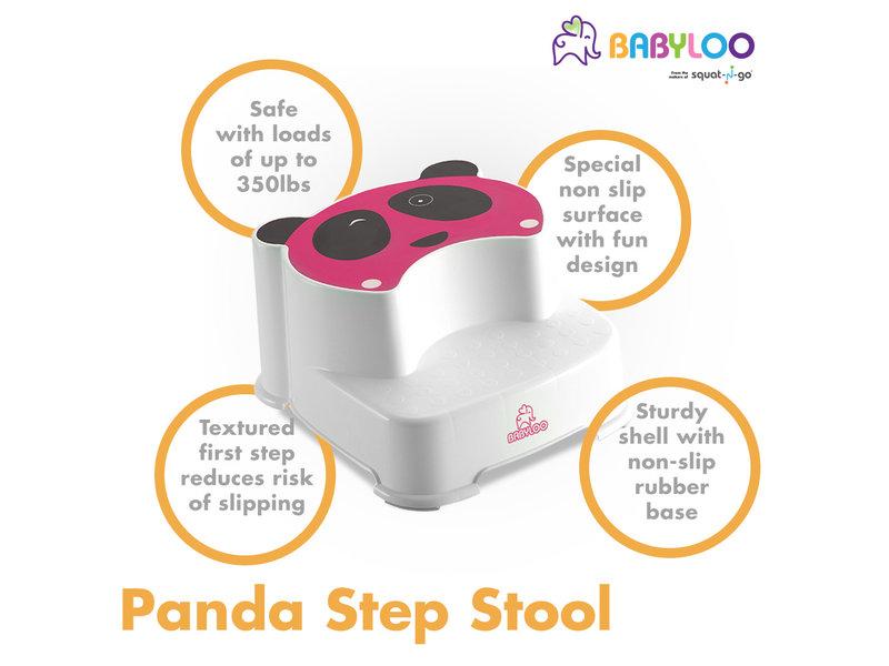 Babyloo Panda Step Stool - Pink/White