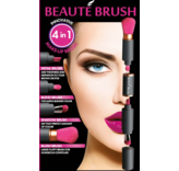 Beauté Brush Zwart/Roze - 4-in-1 beauty tool