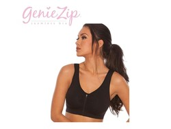 Genie Zip Bra (Zwart)