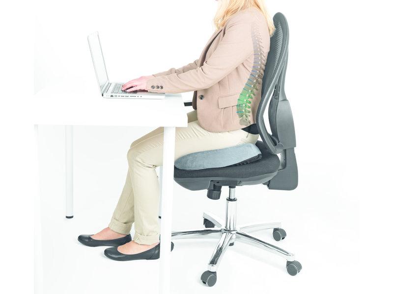 VitalMaxx Gel Seat Cushion Ergonomically - Grey