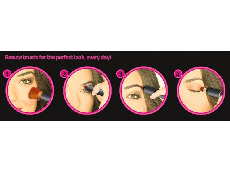 Beauté Brush Zwart/Roze - 4-in-1 beauty tool