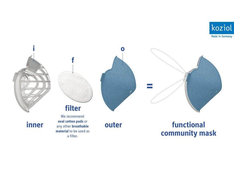 Koziol Community Mask - 30 pcs. filter