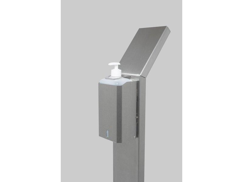 RVS Dispenserpaal incl. literfles dispenser