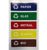 Plafor Sort Bin 45L – Recycling – Red